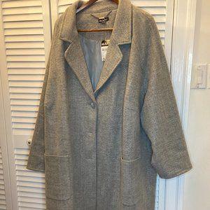 Ulla Popken gray women winter coat, 5X